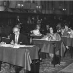 Edouard SOUBERBIELLE - Chartres_concours_Jury_1974.  Édouard Souberbielle est assis à gauche. ( coll. A. Galpérine )